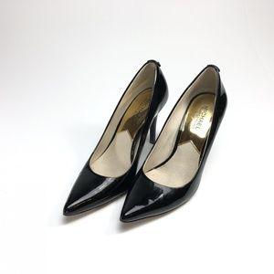 Michael Kors black patent leather heels 6.5